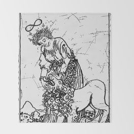 Strength Tarot Card - Major Arcana - fortune telling - occult Throw Blanket