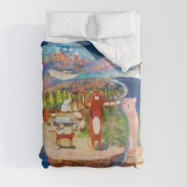 Escape at night from a fish bowl Comforters