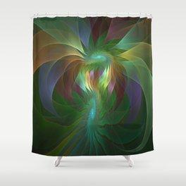 Colorful Shapes, Fractal Art Shower Curtain