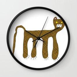 Squared Tiger Wall Clock