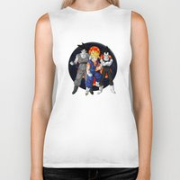 dbz Biker Tanks featuring DBZ - Mighty Fusion by Mr. Stonebanks
