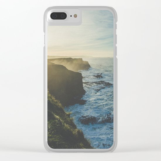 Cliffside Morning Clear iPhone Case