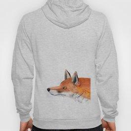 Red fox portrait Hoody