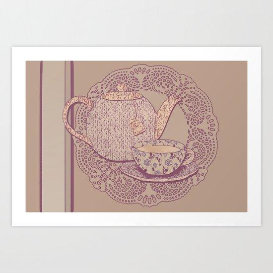 tea cup pink edition  Art Print