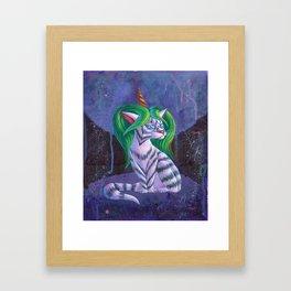 Snow Queen Cat Framed Art Print