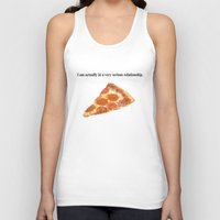 pizza Tank Tops featuring Pizza by Wealthy Loser