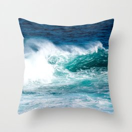 'The Wild Sea' Ocean Photography Throw Pillow