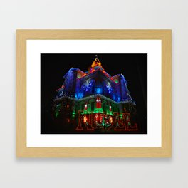 Licking County Courthouse Christmas Framed Art Print