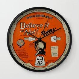 Ripley's Believe it or Not Wheel Wall Clock