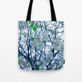 Cherry Blossom (Blue) Tote Bag