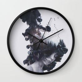 Walking trough flames Wall Clock