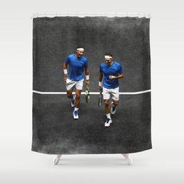 Nadal & Federer Shower Curtain