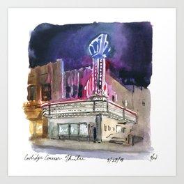 Coolidge Corner Theatre Art Print