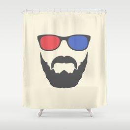 3D beard Shower Curtain