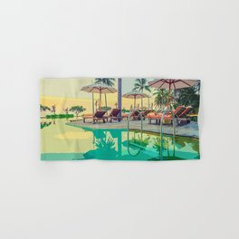 Summer By The Pool Hand & Bath Towel