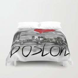 I love Boston Duvet Cover