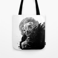 tooth Tote Bags featuring Tooth Fairy by Ana Gomes