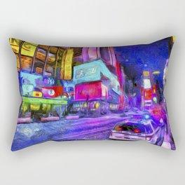 Times Square Van Gogh Rectangular Pillow