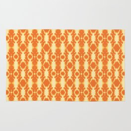 rotary tie-dye pattern in sunny yellows Rug