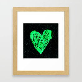 Like jelly and ice cream Framed Art Print