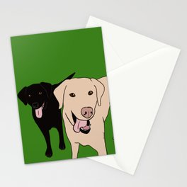 Tanner and Lily Best Labrador Buddies Stationery Cards