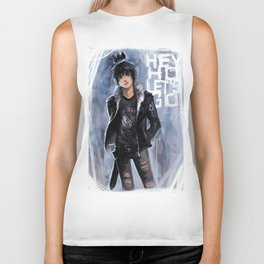 Punk Ghost King Biker Tank