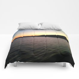 Hudson River Sunset Comforters
