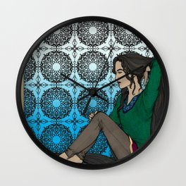 Let Down Your Hair Wall Clock