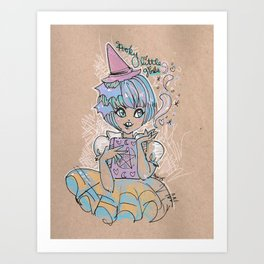 Spooky Little Cutie Art Print