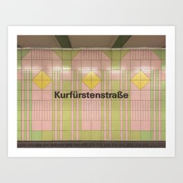 Berlin U-Bahn Memories - Kurfürstenstraße Art Print