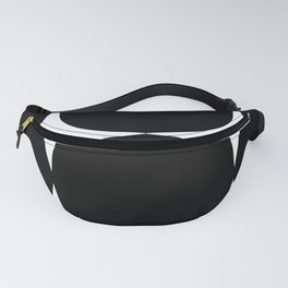 Retro '50s Shapes in Black and White Fanny Pack