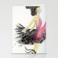 dance Stationery Cards featuring Dance by Natalie Woo artwork