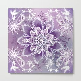 Happiness Purple Metal Print