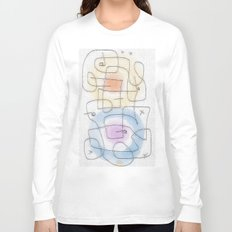 maze with color circles Long Sleeve T-shirt