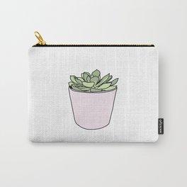 Green suculent in pink flowerpot Carry-All Pouch
