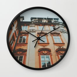 Pastel Prague Wall Clock