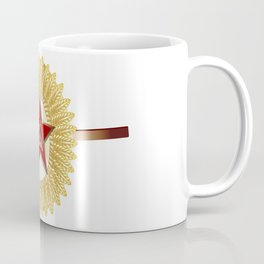 Soviet Officer Cap Badge Coffee Mug