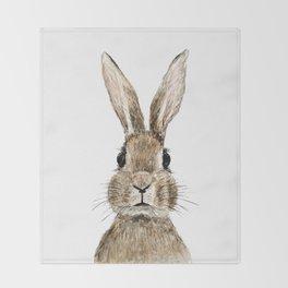 cute innocent rabbit Throw Blanket