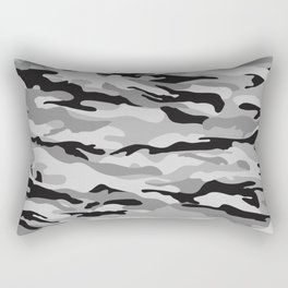 Mid Night Camo Rectangular Pillow