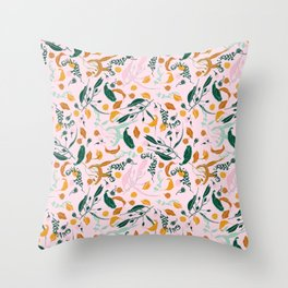 NATURE TABLE - THE HUMAN SPIRIT IS STRONGER THAN ANYTHING THAT CAN HAPPEN TO IT - COOPER AND COLLEEN Throw Pillow