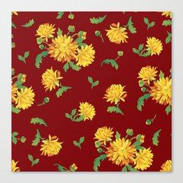 Autumn Chrysanthemums Canvas Print