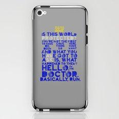 Basically, run (Doctor Who) iPhone & iPod Skin
