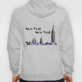 New York New York skyline retro 1930s style Hoody