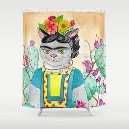 Kitty Kahlo Shower Curtain