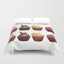 double row of cupcakes Duvet Cover