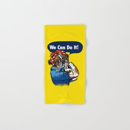 We Can Do It English Bulldog Hand & Bath Towel