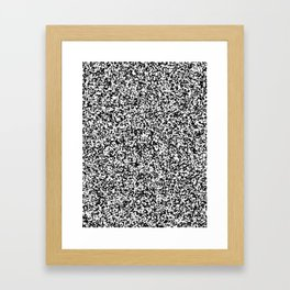 Tiny Spots - White and Black Framed Art Print