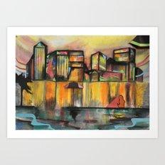 Pop Canary Wharf  Art Print