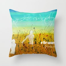 Cleansing process Throw Pillow