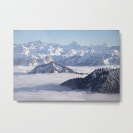 foggy in the Alps Metal Print